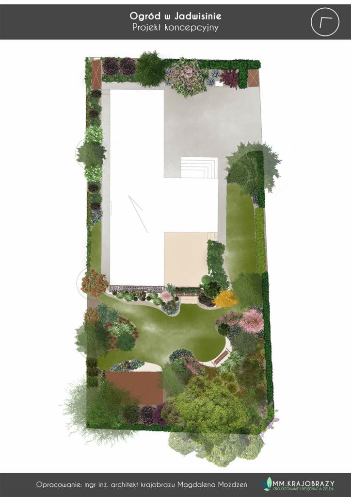 Projekt koncepcyjny ogrodu w Jadwisinie 1