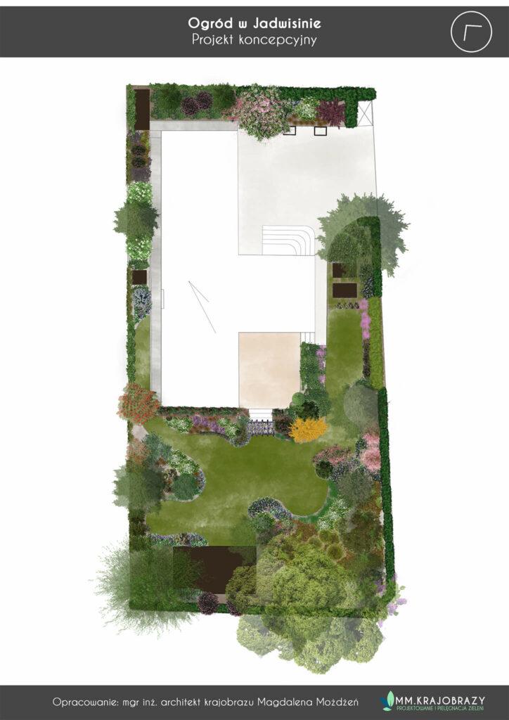 Projekt koncepcyjny ogrodu w Jadwisinie 2