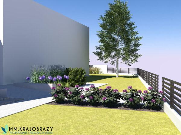 Projekt terenu zieleni przy kawiarni 1