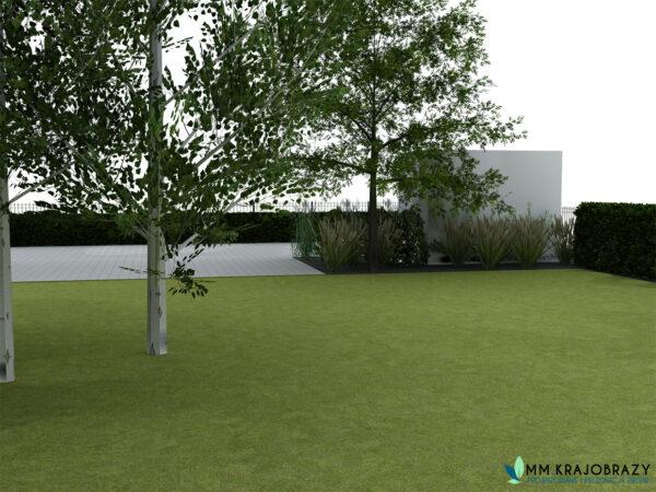 Projekt terenu zieleni przy kawiarni 10
