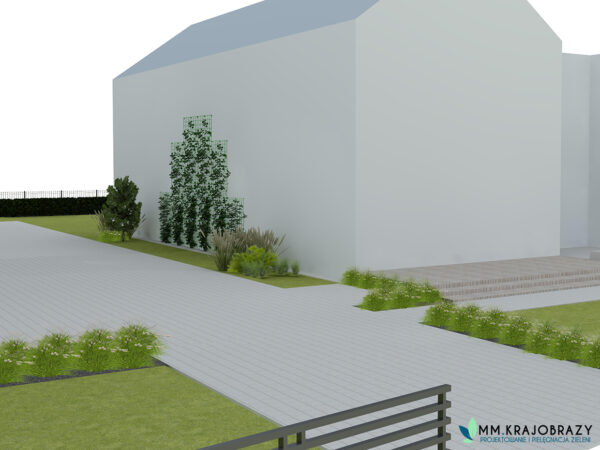 Projekt terenu zieleni przy kawiarni 11