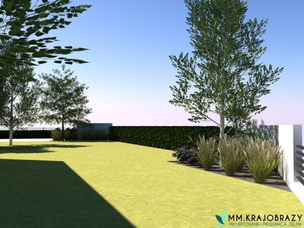Projekt terenu zieleni przy kawiarni 2