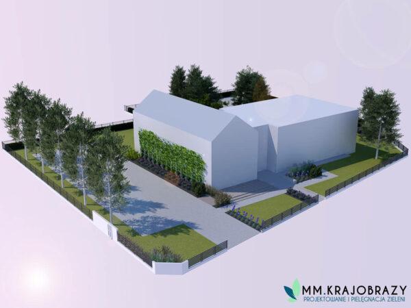 Projekt terenu zieleni przy kawiarni 4