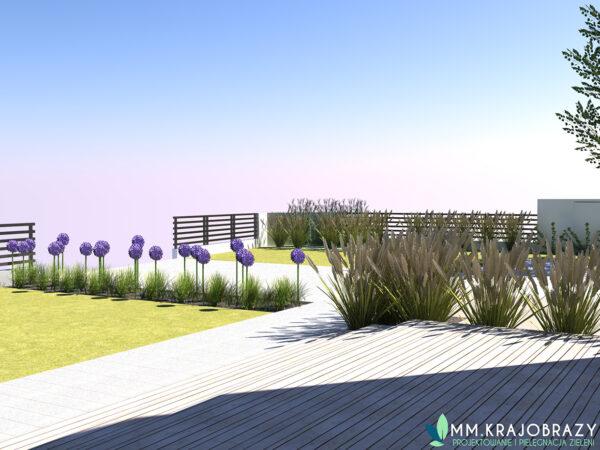 Projekt terenu zieleni przy kawiarni