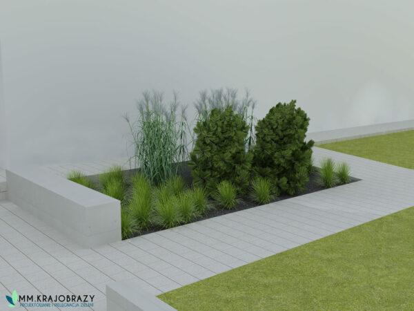 Projekt terenu zieleni przy kawiarni 7