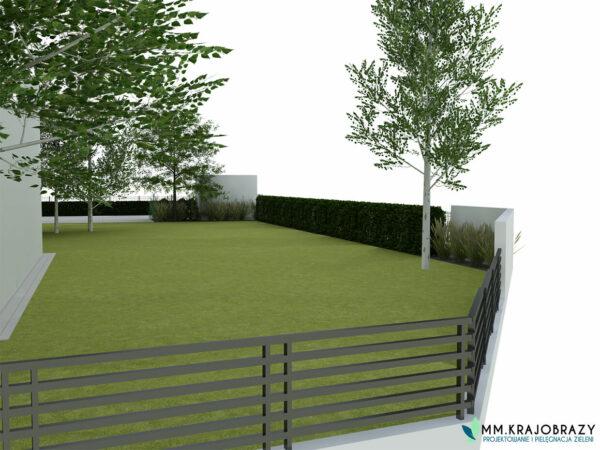 Projekt terenu zieleni przy kawiarni 9