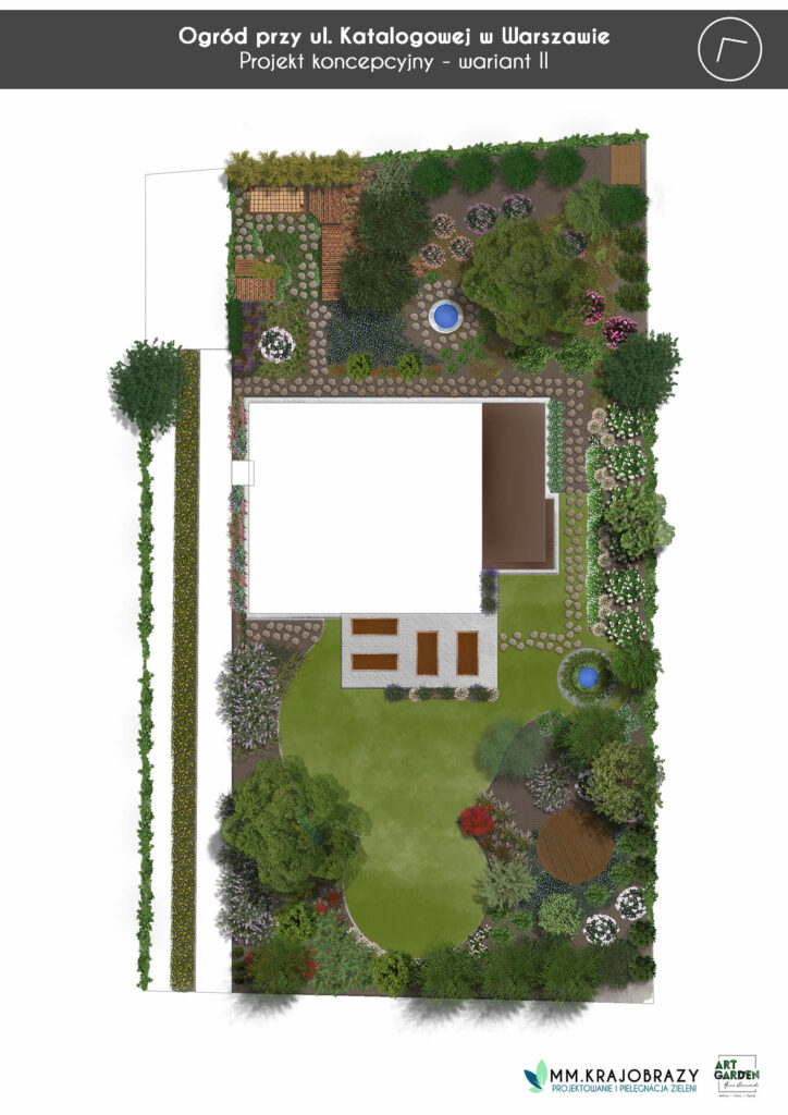 Warszawa projekt koncepcyjny ogrodu