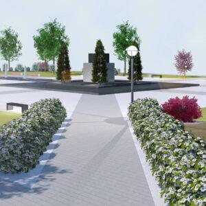 Koncepcja zagospodarowania przestrzennego Skweru im. Jana Pawła II w Nasielsku