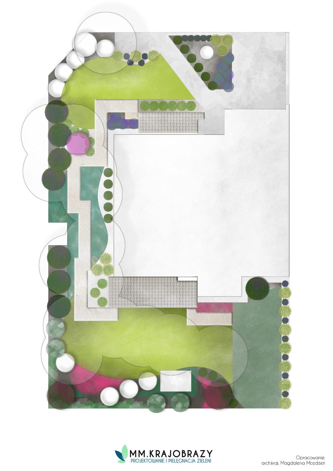 Projekt Ogrodu styl leśny