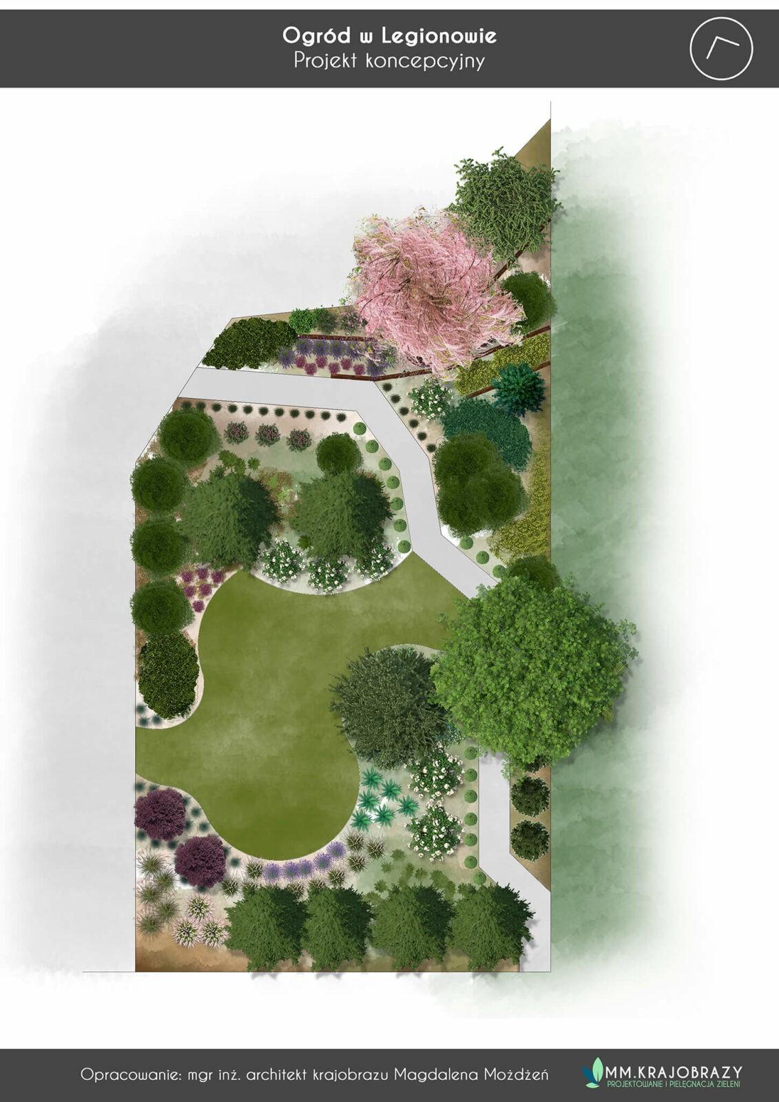 Projekt Ogrodu Legionowo