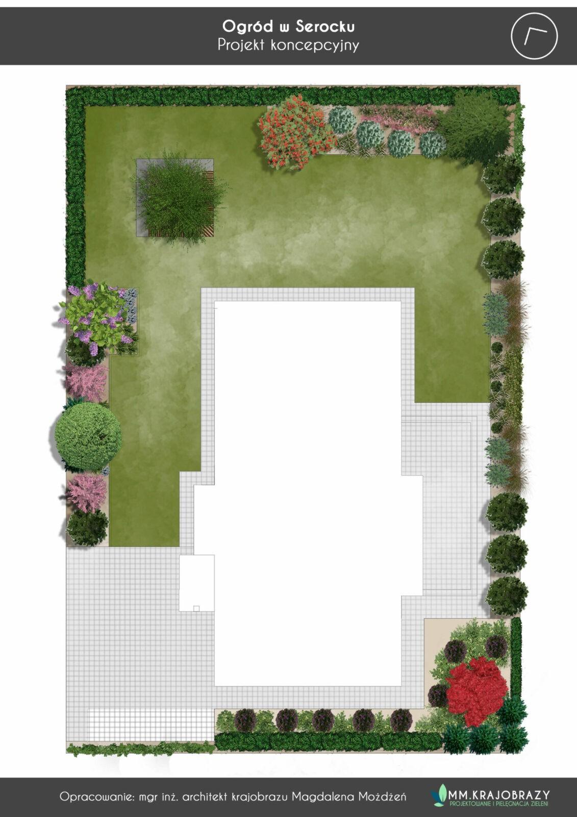 Projekt koncepcyjny ogrodu w Serocku
